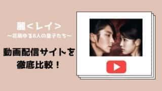 【麗<レイ>〜花萌ゆる8人の皇子たち〜】はNETFLIX配信されている?動画配信サイト比較