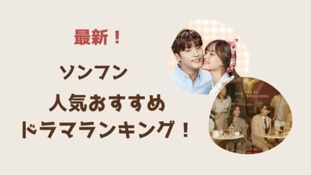 最新【ソンフン】のドラマ一覧とおすすめランキング!