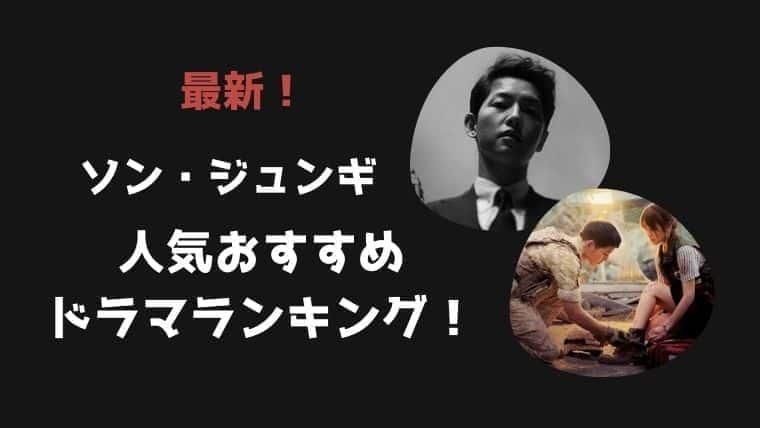 【ソンジュンギ】おすすめドラマランキング