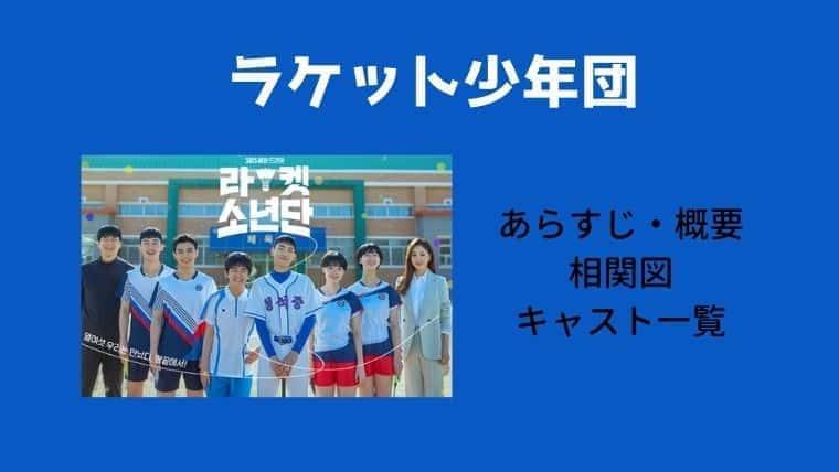 【ラケット少年団】キャスト一覧と相関図・あらすじ・OST